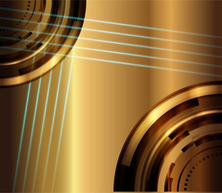 Gold metal texture background Vector