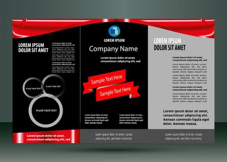 leaflet design: Leaflet design layout