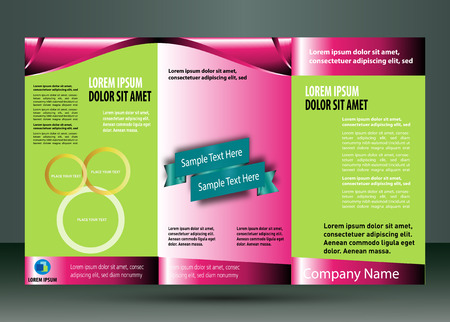 Tri fold brochure template Vector