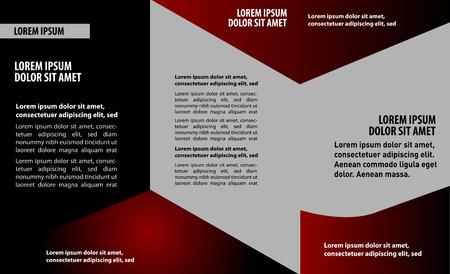 trifold flyer template design Vector