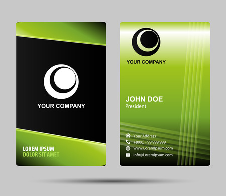 the inscription: Vertical business card template