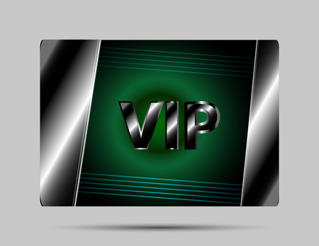Vip card green background Vector