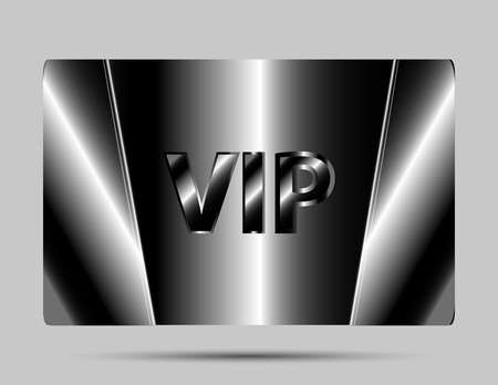 Vip cards with the black background Vector