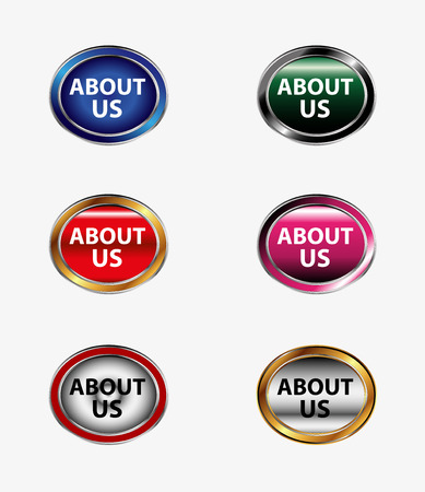about us: About us icon button Illustration