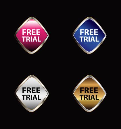 free trial: Free trial label set