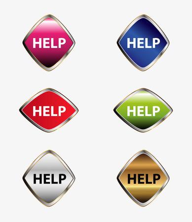 help icon: Help icon button