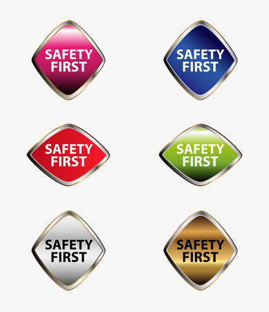 precedence: Safety first tag button set