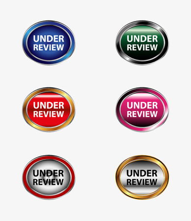 review icon: Under review icon button Illustration