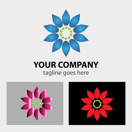 eps picture: Circular Flower logo vector Illustration