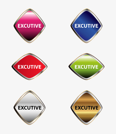 adviser: Executive Label tag Illustration