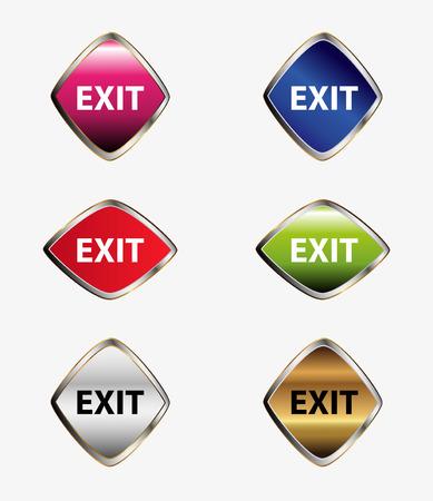 Exit icon sign set Vector