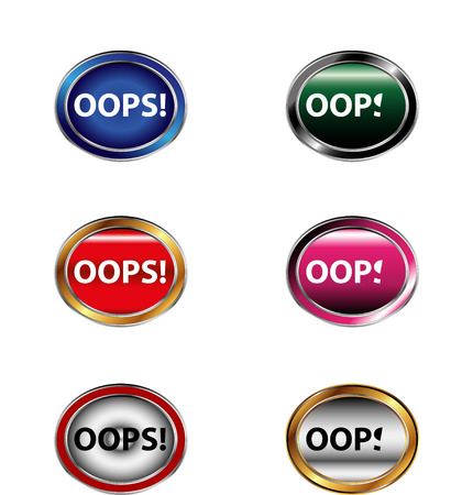 blunder: Oops! Button sign set