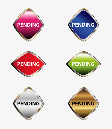 pending: Pending isolated button sign