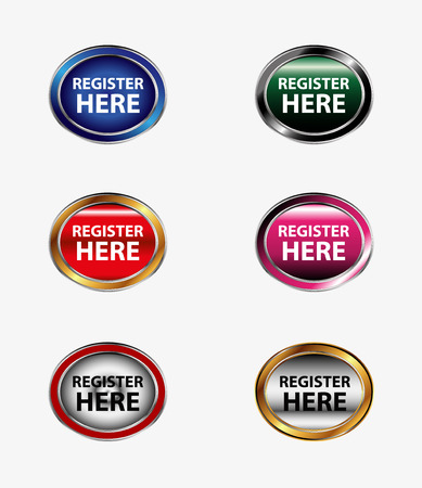 Set of register button Vector