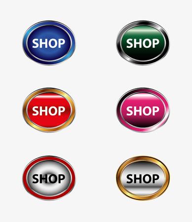 Shopping icon design element Vector