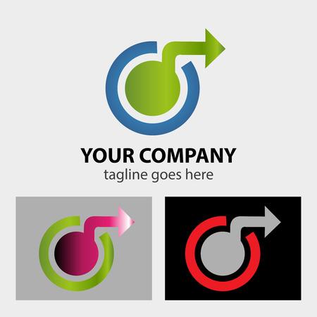 Sphere and arrows logo Vector