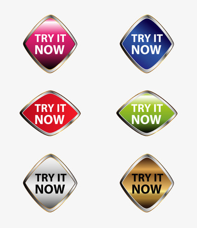 try: Try it now button icon set
