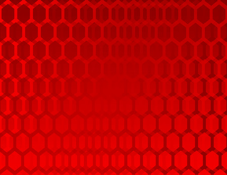 Abstract red background with hexagons Ilustração
