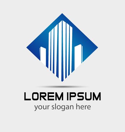 logotipo de construccion: Construcción de negocios Edificio logo símbolo y el icono
