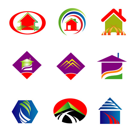 Collection of Real estate icons Vector
