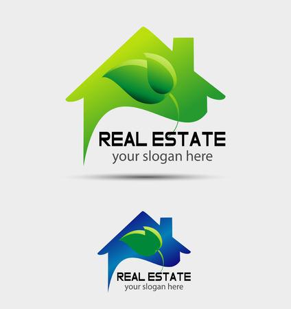 casa: Eco casa segno corporate branding logo isolato Vettoriali