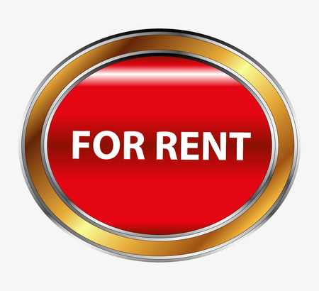 for rent: For rent button Illustration