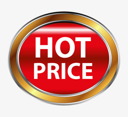 hot price: Hot price button Illustration