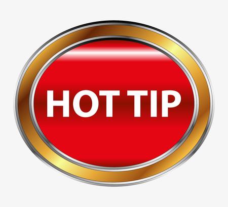 propina: Sugerencia caliente icono Bot�n vector Vectores
