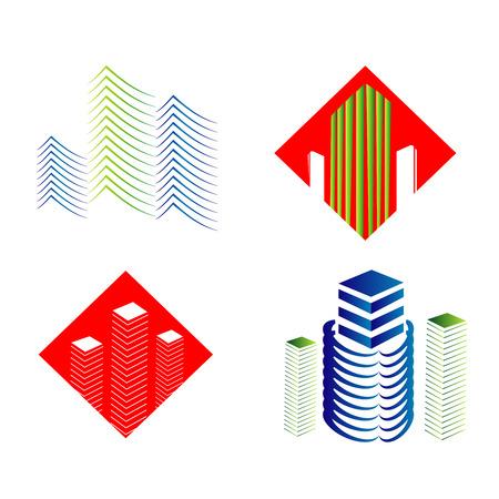 housing estate: Real Estate Logo Set