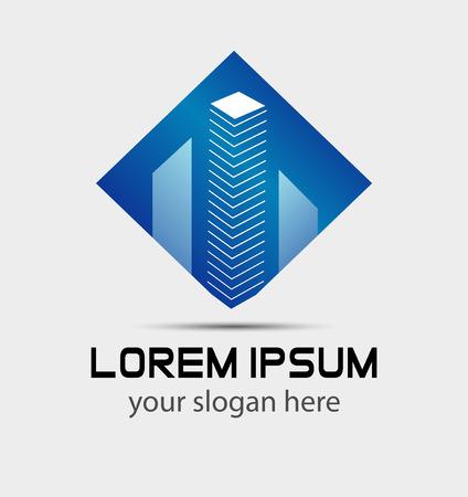 modern buildings: Immobilier b�timents modernes logo
