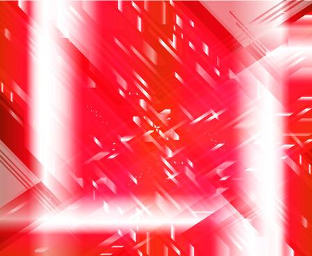 semaforo rosso: Red light techno vector background Vettoriali