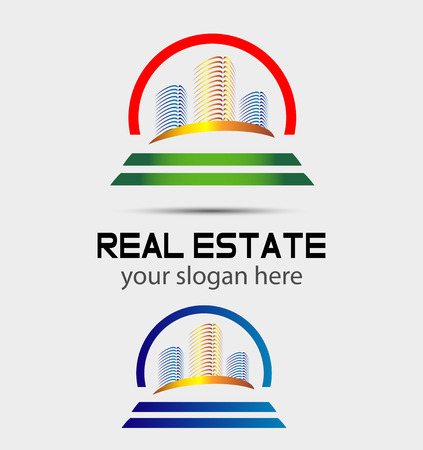 Skyscraper house logo Vector