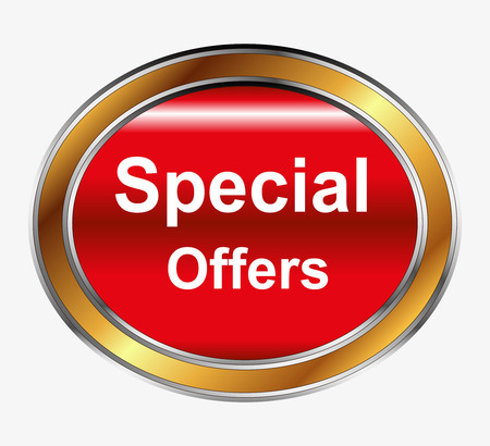 Special offer button Vector