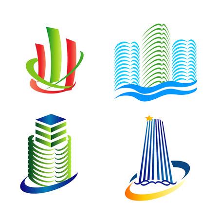 houses: Urban icons logo