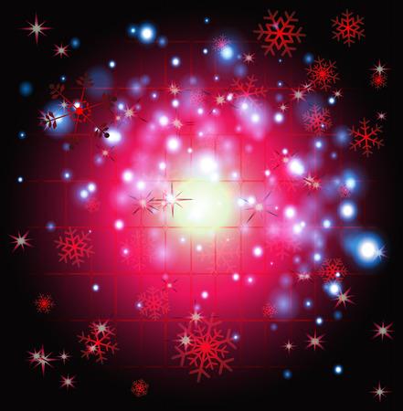iceflower: Scoppio rosso cerchio di luce Natale sfondo