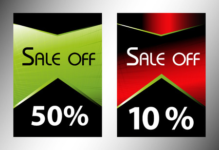 sell out: Sale off tag discount Stock Photo