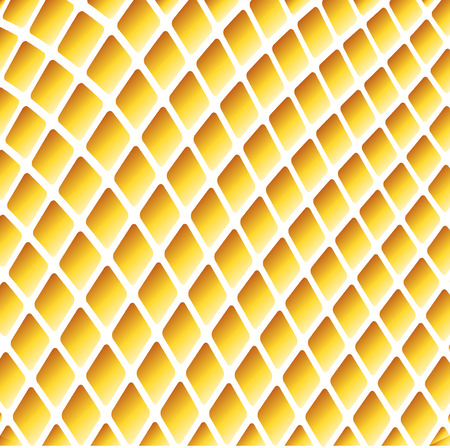 Yellow wavy background with grid