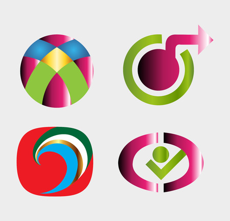 Abstract icon templates Vector
