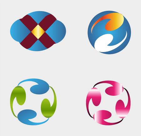 Set of modern and elegant logo design Vector