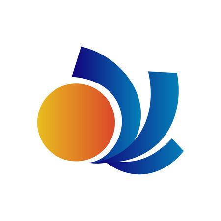 Travel vector Sun logo design template Vector