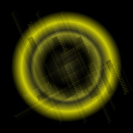black and blue: Abstract technology round black blue background