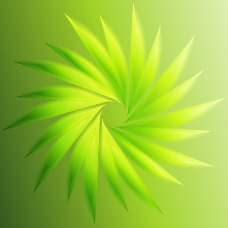 green swirl: Swirl abstract green background Illustration