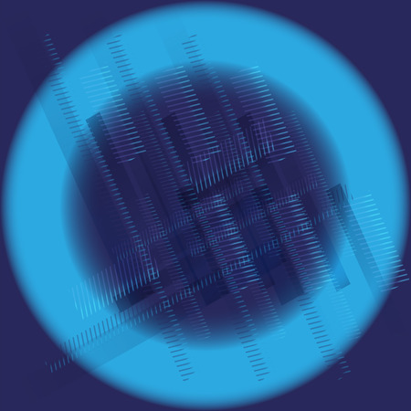 covet: Abstract technology round blue background Illustration