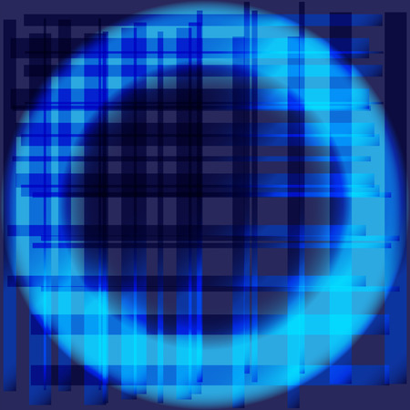 grid: Blue abstract circle grid background Illustration