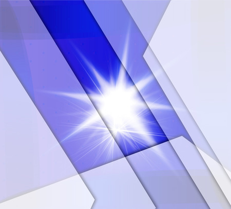 Blue white stripe Background With burst light photo