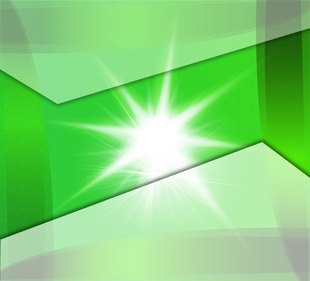 Green Background With Beams photo