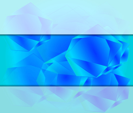 place for text: Polygonal blue background with place for text Stock Photo