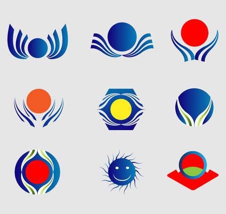 Sun   Icons element Set Vector
