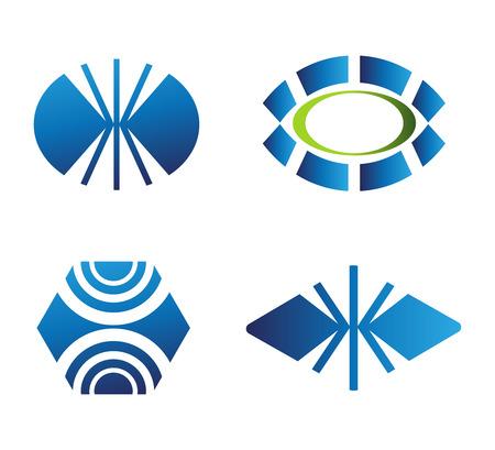 logotipo abstracto: Elementos abstractos del dise�o. Colecci�n de iconos para el logotipo abstracto Vectores