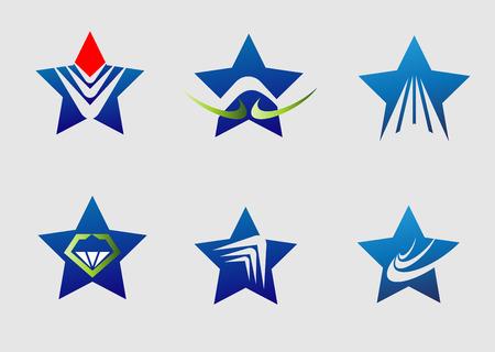 star logo: Collection star logo icon element set